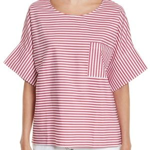 Public School Amos Red Stripe Top